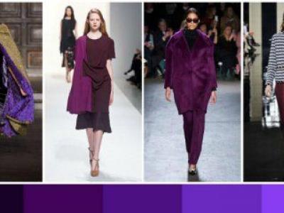 модели в лилави рокли
