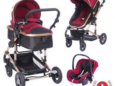 Червена бебешка количка