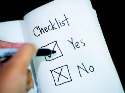 Checklist yes/no