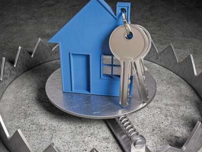 ключове и къщичка в капан